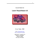 Course Notes for: Learn Visual Basic 6