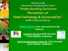 """Understanding Consumer  Perceptions of   Food Technology & Sustainability"""