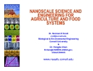 NANOSCALE SCIENCE AND  ENGINEERING FOR AGRICULTURE AND FOOD  SYSTEMS