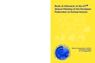 BOOK OF ABSTRACTS OF THE 63RD ANNUAL MEETING OF THE EUROPEAN FEDERATION OF ANIMAL SCIENCE