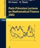 Paris-Princeton Lectures on Mathematical Finance 2002