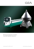Mechanical Separation Solutions from GEA Westfalia Separator