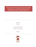 A Comparative Analysis of Carbon Dioxide  Emissions in Coated Paper Production  Key Differences between China and the U.S.