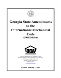 Georgia State Amendments to the   International Mechanical  Code  (2006 Edition)