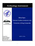 POTENTIAL CONFLICT OF INTEREST IN THE PRODUCTION OF DRUG COMPENDIA