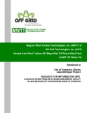 MagLev Wind Turbine Technologies, Inc. (MWTT) &  Off Grid Technologies, Inc. (OGT)  Vertical Axis Wind Turbine 200 Mega Watt Off Shore Wind Farm  (VAWT Off Shore JV)