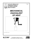 MECHANICAL EQUIVALENT OF HEAT - Instruction Manual and Experiment Guide for the PASCO scientific Model TD-8551A