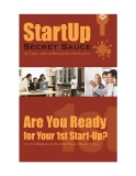 StartUp Secret Sauce Series: Are You Ready for Your First StartUp
