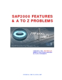 SAP2000 Featuters And A TO Z Problems