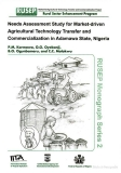 needs assessment study for market driven agricultural technology
