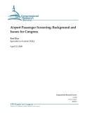airport passenger screening background and issues for congress
