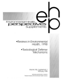 reviews in environmental health 1998 toxicological defense mechanics
