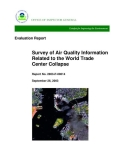 survey of air quality information related to the world trade center collapse