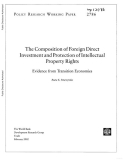 the composition of foreign direct investment