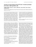Báo cáo Y học:  Secretion of egg envelope protein ZPC after C-terminal proteolytic processing in quail granulosa cells