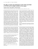Báo cáo Y học:  The effect of amino-acid substitutions I112P, D147E and K152N in CYP11B2 on the catalytic activities of the enzyme