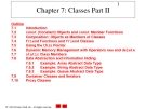 Chapter 7 - Classes Part II