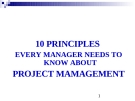 10 PRINCIPLES EVERY MANAGER NEEDS TO KNOW ABOUT PROJECT MAMAGEMENT