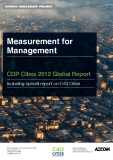 Measurement for  Management CDP Cities 2012 Global Report