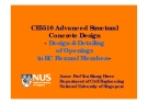 CE5510 Advanced Structural Concrete Design