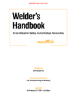 Welder's Handbook For Gas Shielded Arc Welding, Oxy Fuel Cutting & Plasma Cutting