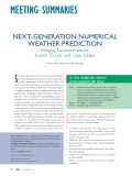 "Báo cáo "" NEXT-GENERATION NUMERICAL WEATHER PREDICTION Bridging Parameterization, Explicit Clouds, and Large Eddies """