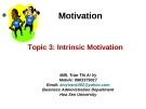 Intrinsic motivation