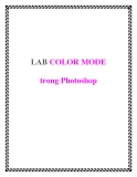 LAB COLOR MODE trong Photoshop