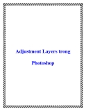 Adjustment Layers trong Photoshop