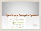Open Source Enterprise System