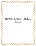 Phát Wifi trên Windows 8 Release Preview