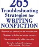 265 Troubleshooting Strategies for Writing Nonfiction Barbara Fine Close