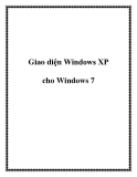 Giao diện Windows XP cho Windows 7