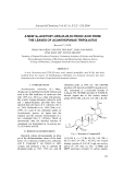 "Báo cáo ""A new 3α-acetoxy-urs-23,28,30-trioic acid from the leaves of Acanthopanax Trifoliatus """