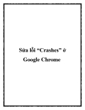 "Sửa lỗi ""Crashes"" ở Google Chrome"