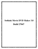 Sothink Movie DVD Maker 3.8 Build 27047