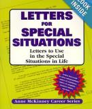 Letters For Special Situations: Letters to use in the special situations in life