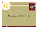 Chapter 12: Evaluation of Print Media