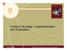 Chapter 9 Creative Strategy: Implementation and Evaluation