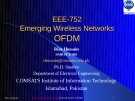 EEE-752 Emerging Wireless Networks OFDM