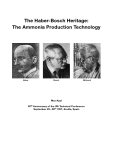 The Ammonia production technology