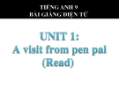 Bài giảng Tiếng Anh 9 Unit 1: A visit from a pen pal