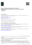 Journal of Financial Regulation and Compliance