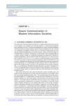Chapter1: Secure Communication in Modern Information Societies