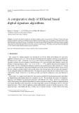 A comparative study of ElGamal based digital signature algorithms