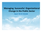Tiểu luận: Managing Successful Organizational Change in the Public Sector
