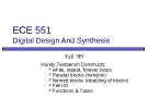 ECE 551 Digital Design And Synthesis: Lecture 6