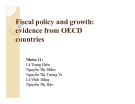 Thuyết trình: Fiscal policy and growth: evidence from OECD countries