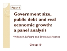 Thuyết trình: Government size, public debt and real economic growth: a panel analysis