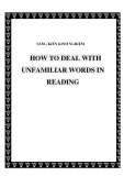 SKKN: How to deal with unfamiliar words in reading